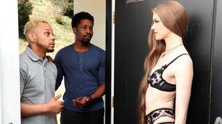 Porn World - Slender Erin Everheart Cucks Her Hubby with BBC Stud Team Destroying her Ass