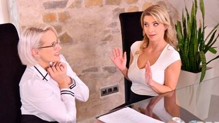 DDF Network - Sensual models Katerina Hartlova and Angel Wicky fuck with a toy