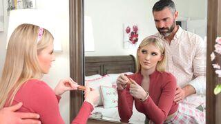 Porn World - Perfect Blonde Melody Marks Seduces Busty Next-Door Neighbor Rachael Cavalli with Stepdad