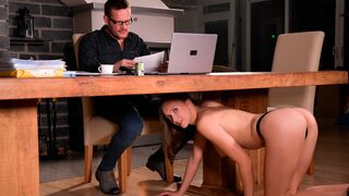 Porn World - Sultry Secretary Stacy Cruz Turns Conference Call into Booty Call with Boss