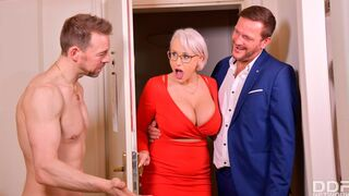 DDF Network - Cheating hotties Sofia Lee and Angel Wicky fuck with two cocks