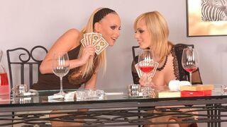 Porn World - Two Studs Win BJs from Bisexual Beauties Gitta Blond & Szofya Cox
