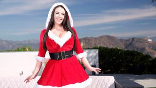 DDF Network - Sensual busty brunette Angela White stimulates her hungry pussy