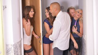 DDF Network - Awesome double penetration with Kiara Lord, Tina Kay and Blue Angel