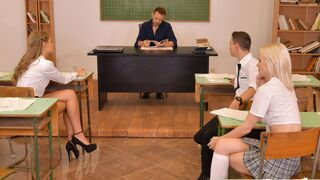 DDF Network - Two amazing models Rebecca Volpetti and Tiffany Tatum banged in the office