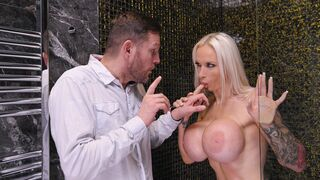DDF Network - Blondie with giant tits Sophie Anderson gives a gorgeous blowjob
