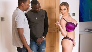 DDF Network - Hardcore interracial sex action with a busty blonde Chessie Kay