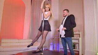 DDF Network - Sensual golden blonde Natasha Teen is getting drilled on stage