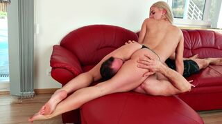 Defeated Sex Fight - Facesitting - Strong Guy Humiliated by Blonde Chick
