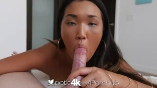Exotic 4K - Cute Asian Amy Parks Gets her Tits in Hot Soapy Water