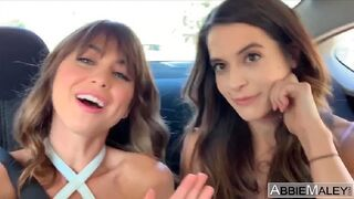 Abbie Maley - Abbie Maley and Riley Reid: Risky Public Restroom Threesome