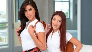 Moms Lick Teens - Stunning models Lilith Shayton, Veronica Vain and Sally Squirt enjoy lesbian sex