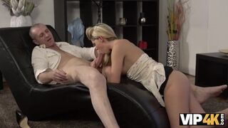 VIP 4K - Claudia Supposed to Clean the House but Gets old Cock