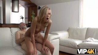 VIP 4K - Horny Daddy Demonstrates Blonde Colleen what Passion is