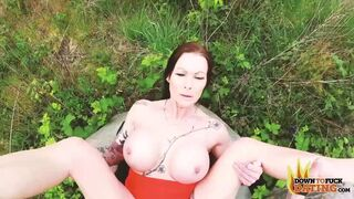 Angelic lady with huge boobs Julia Exclusiv fucked by a large dick