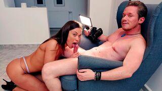 Down to Fuck Dating - Beautiful hottie Alyssa Reece gets her wet hole fucked by a big boner