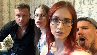 DTF Sluts - Anna Ray and Olga Olya are fucking with two big cocks