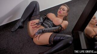 The Life Erotic - Watch her Big Natural Tits Bounce as she Masturbates in Latex
