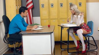 Cherry Pimps - Slutty cheerleader Victoria Steffanie fucks with a horny teacher