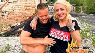 Down to Fuck Dating - Leggy busty hottie Harleen Van Hynten is having fun with a new dick