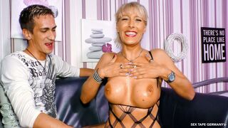 XXX Omas - Horny mature Germans share cock and cum in wild FFM threesome