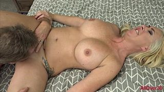 AllOver30 - Big Tits Blonde MILF Janna Hicks Fucked In Bed