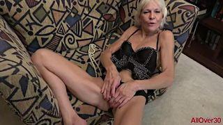 AllOver30 - Mature Blonde Mimi Smith Fucks her GILF Pussy