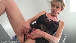 AllOver30 - Mature Blonde MILF Georgina Sex and Lingerie