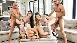 Daughter Swap - Hot Dads Punish their Curious Stepdaughters with Cock