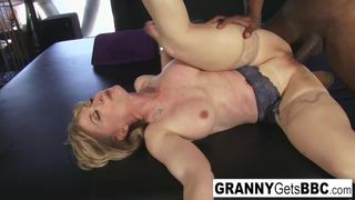 Granny Gets BBC - Porn Legend Nina Hartley gets Interracial in her Sexy Lingerie