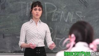 Innocent High - Audrey Noir and Rose Darling drilled by horny teacher