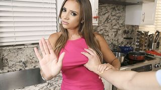 Perv Mom - Busty Latina Stepmom Gags on her Stepson's Cock