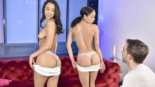 Step Siblings - Slut Sisters Compete for Cock