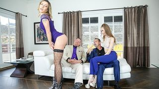 Daughter Swap - Scummy Step Dads take Advantage of their Slutty Daughters