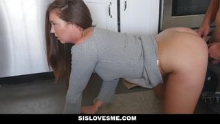 Sis Loves Me - StepSis Rubs my Cum all over her Face